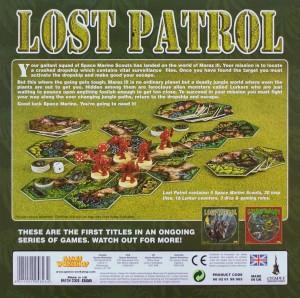 Обратная сторона старой коробки Lost Patrol
