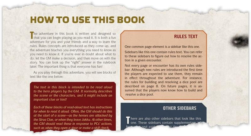 Страница из книги правил The Force Awakens™ Beginner Game