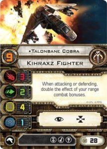 Карта пилота Kihraxz starfighter