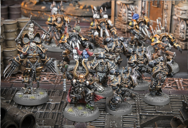 THE CHOSEN OF ABADDON FORMATION: 1-4 Chaos Lords or Sorcerers (in any combination), 1 unit of Chosen or Chaos Terminators (in any combination) for each Chaos Lord or Sorcerer