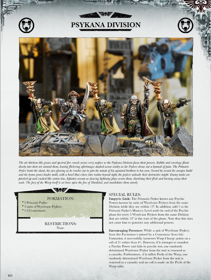 Psykana_Division_pg161 формация Psykana Division, скан страницы из книги Warhammer 40.000 War Zone Damocles - Mont'ka