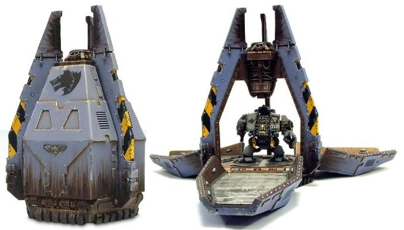 Зачем нужен Legion Dreadnougt Drop Pod отличный способ доставки дредноута на передовую