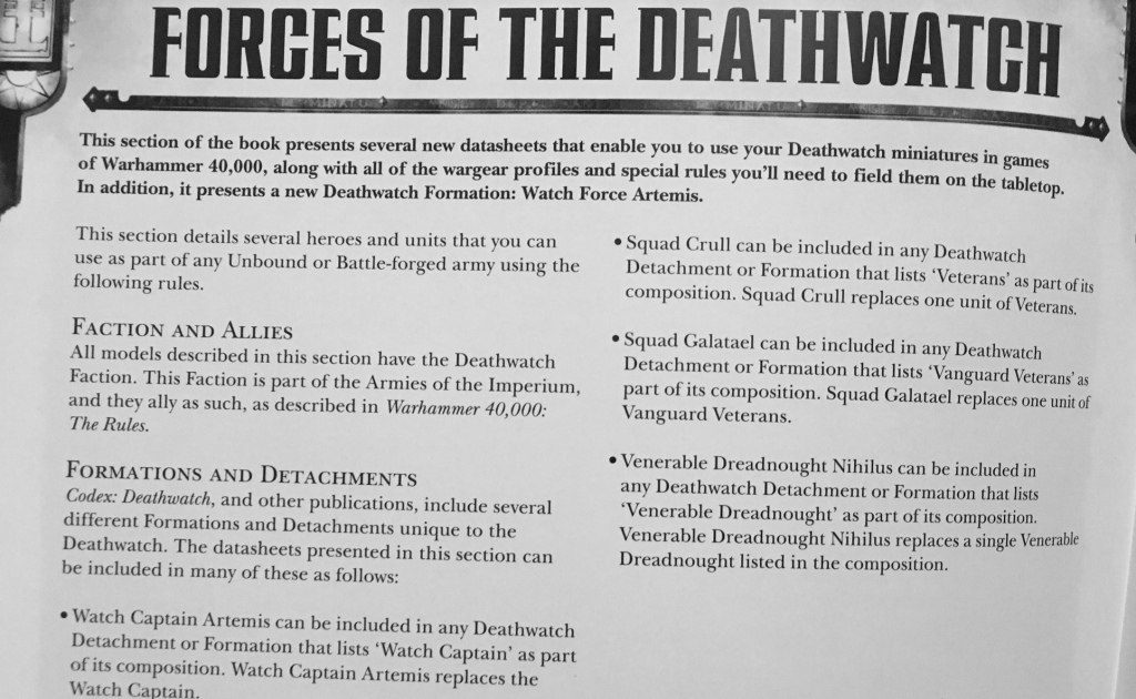 Forces of Deathwatch
